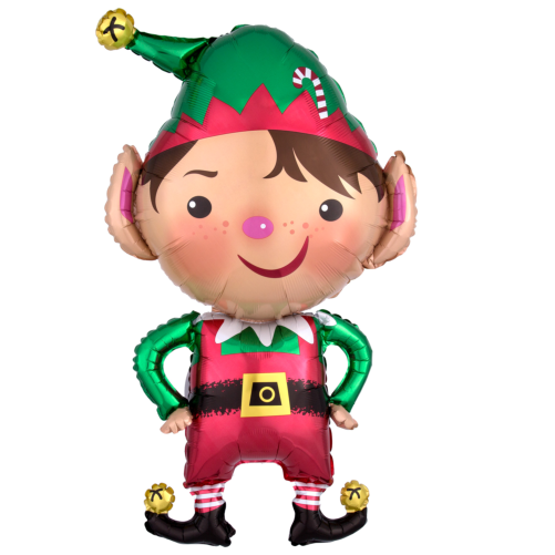 Large Foil Christmas Balloons Jolly Christmas Elf Free