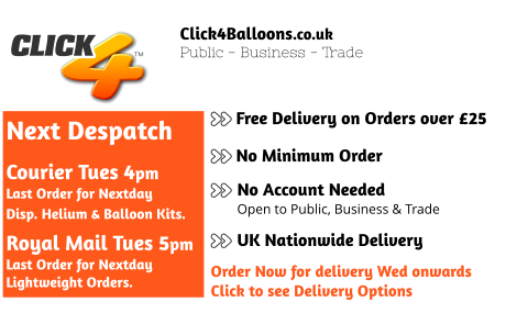 Click4Balloons.co.uk | Wholesale Balloons, Balloon Printing, Helium Gas