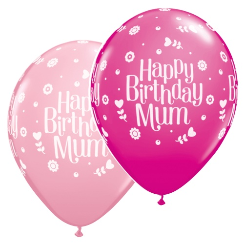 11 Quot Birthday Mum Latex Balloons Price Per 6 Pieces Sold
