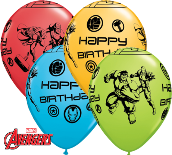 Avengers Birthday Latex Balloons