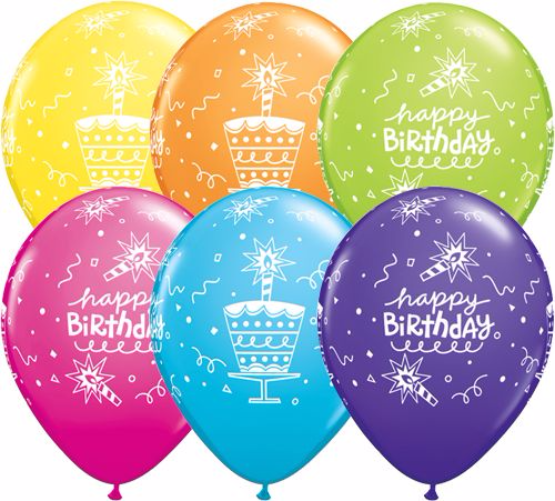 Birthday Cake Candle Balloons