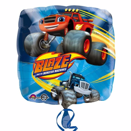 Blaze Monster Truck Foil Balloon Free Delivery