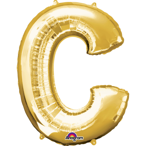 Gold Letter C Mini-Foil Balloon (16\