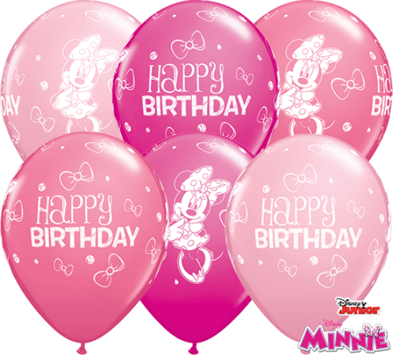 Minnie Mouse Latex Balloons