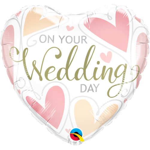 On your wedding day hearts foil balloon free delivery on your wedding day hearts foil balloon 18 1pc junglespirit Images