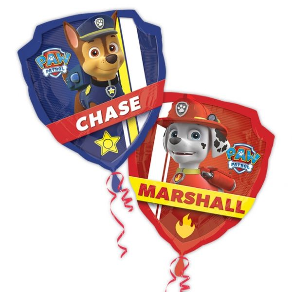 Paw Patrol Large Foil Balloon Sold Individually Flat