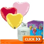 Plain Heart-Shaped Foil Balloon Kits