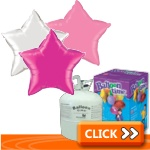 Plain Star-Shaped Foil Balloon Kits