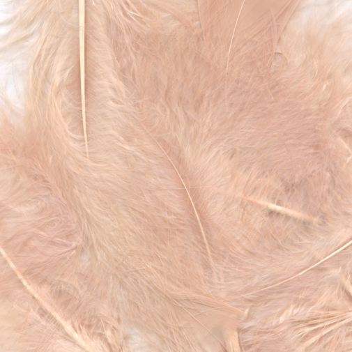 rose gold feathers for balloons eleganza 50g bag