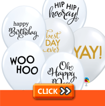 Simply Trendy Message Latex Balloons