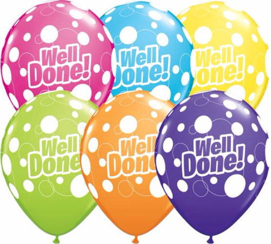 Well Done Dots Balloons
