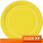 Yellow Party Tableware & Decorations