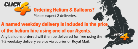 Helium Hire - Free 5 working day delivery on balloons